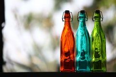 关闭玻璃瓶 免版税图库摄影