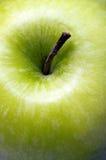 关闭绿色苹果 免版税图库摄影