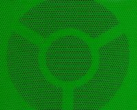 关闭绿色金属栅格纹理背景 免版税库存图片