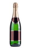关闭绿色香槟瓶 免版税库存照片