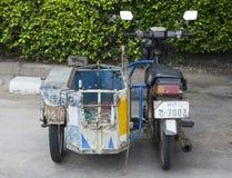 关闭D 我 Y三轮子摩托车 免版税库存照片
