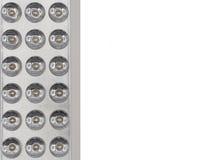 关闭LED光带射击在被隔绝的背景的 库存照片