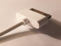 关闭MP3播放器的一个usb充电器头 库存图片