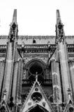 关闭Notre Dame,巴黎 库存图片