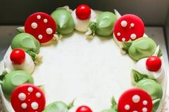 关闭pandan蛋糕 免版税库存照片