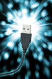 关闭USB插座 库存图片