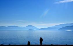 关系困难,湖prespa,马其顿 库存照片