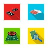 兴奋、赌博娱乐场、比赛和其他网象在平的样式放大器,欺诈,娱乐,象在集合汇集 库存例证