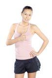 兴奋愉快的白种人健身培训人 免版税库存图片