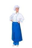 兴旺的女性厨师 免版税库存照片