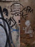 兴旺的都市街道画和街道艺术场面在里斯本,葡萄牙, 2014年 免版税库存照片