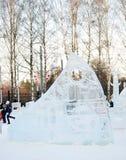 兵马俑在Sokolniki公园。 免版税库存图片