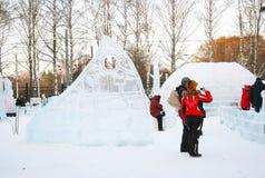兵马俑在Sokolniki公园。 库存图片