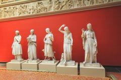 其中一个古色古香的雕塑由卡尔雅克布森收集了  免版税库存图片