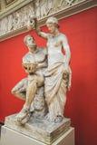 其中一个古色古香的雕塑由卡尔雅克布森收集了  图库摄影