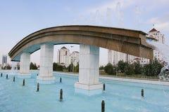 其中一个喷泉在公园 库存图片
