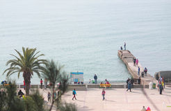 其中一个在海边的码头,索契,俄罗斯 免版税库存图片
