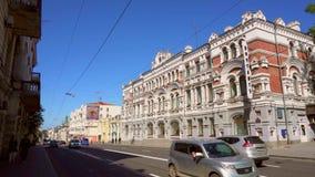其中一个在远东-符拉迪沃斯托克邮局的首都的最美丽的大厦 股票视频