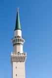 其中一个在Nabawi清真寺的塔 图库摄影