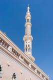其中一个在Nabawi清真寺的塔 库存照片
