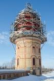 其中一个所有宗教寺庙的建设中塔  库存图片