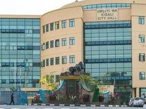 其中一个最干净的城市在非洲,基加利 免版税库存照片