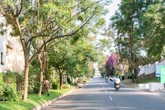 其中一个最干净的城市在非洲,基加利 免版税图库摄影