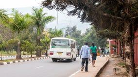 其中一个最干净的城市在非洲,基加利 图库摄影