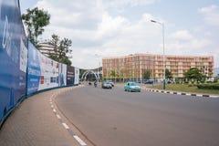 其中一个最干净的城市在非洲,基加利 库存照片