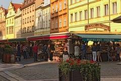 其中一个最旧和最五颜六色的市场在布拉格 Havelské TrÅ ¾ iÅ ¡ tÄ› Havel市场或Havel市场 免版税库存照片