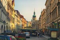 其中一个最旧和最五颜六色的市场在布拉格 Havelske Trziste Havel市场或Havel市场 库存照片