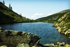 其中一个最美丽的Karakol湖 图库摄影