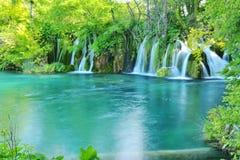 其中一个最美好的地方在世界Plitvice -克罗地亚上 免版税库存图片