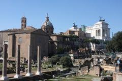 其中一个最著名的地标在世界上-罗马广场在罗马,意大利 库存照片