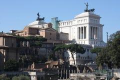 其中一个最著名的地标在世界上-罗马广场在罗马,意大利 免版税库存图片