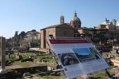 其中一个最著名的地标在世界上-罗马广场在罗马,意大利 库存图片