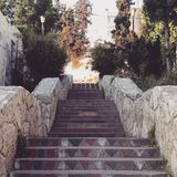 其中一个纳布卢斯美丽的台阶  免版税图库摄影