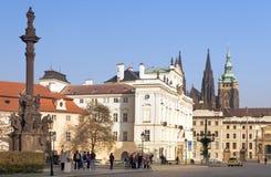 其中一个老布拉格的正方形 库存照片
