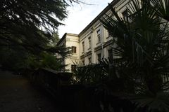 其中一个著名斯大林时代疗养院的大厦 库存照片
