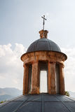 其中一个蒙雷阿莱大教堂圆屋顶,西西里岛 库存图片