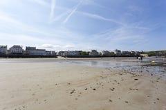 其中一个攻击开始日海滩 免版税库存照片
