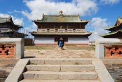 其中一个Erdene Zuu修道院大厦在Kharkhorin,蒙古 免版税图库摄影