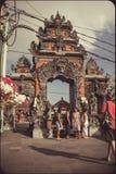 其中一个Tanah全部寺庙入口门 库存照片