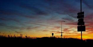 其中一在布赖顿的9月` s美好的日落 库存图片