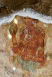 其中一幅在锡吉里耶岩石的美好的壁画在锡吉里耶,斯里兰卡 图库摄影
