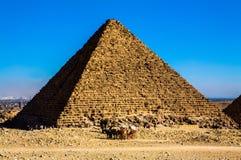 其中一座吉萨棉金字塔  图库摄影