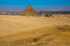 其中一座吉萨棉金字塔  库存图片