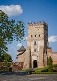 其中一座在乌克兰-卢茨克城堡的最著名的城堡 免版税库存照片