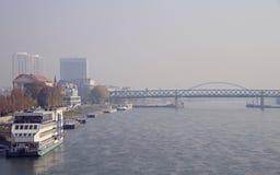 其中一座在多瑙河的桥梁在布拉索夫 库存图片