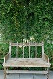 其中一把椅子在庭院里 库存照片